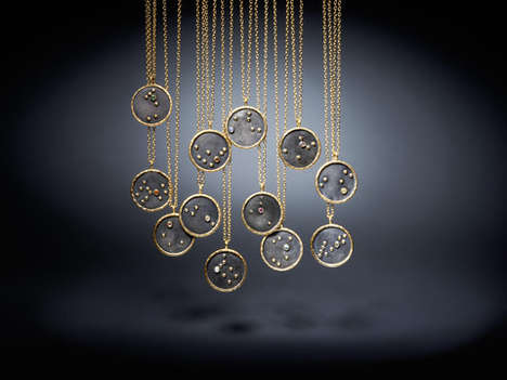Zodiac Necklace Collections - These Luxurious Necklaces by Satya Can Be Worn on Both Sides
