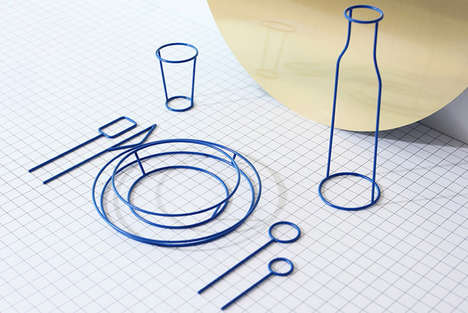 Wireframe Dishware Collections - Studio Dessuant Bone's 'Fasted' Rethinks the Ritual of Dining