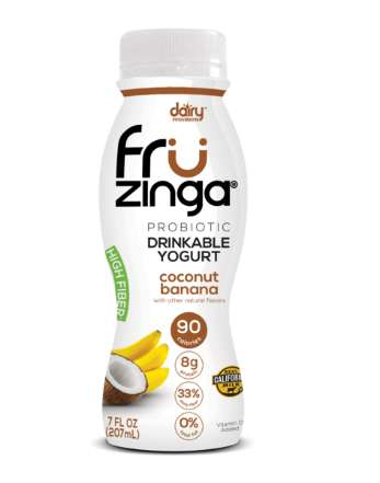 Drinkable Probiotic Yogurts - Fruzinga's Yogurt Bottles Introduce a New Wave of Functional Dairy