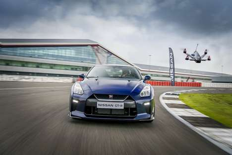 Turbocharged Racing Drones - The Nissan GT-R Drone's Acceleration Outstrips the Nissan GT-R Car