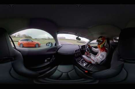 Virtual Racing Simulators - Audi's Interactive Virtual Reality Takes Fans to the Indy Circuit