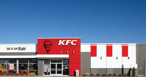 Modernized Fast Food Branding - The KFC Redesign Contemporarily Reflects Its Iconic Heritage