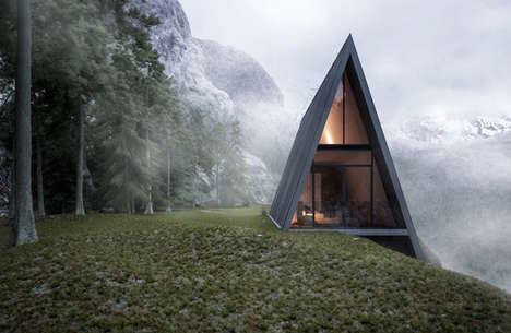 Triangle Cliff Houses - Matthias Arndt Designs an IncrediblePermanent Tipi-Like Concept