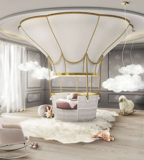 Hot Air Balloon Beds - This Imaginative Bed Design for Kids by Circu Takes After a Floating Vehicle