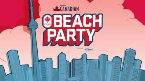 Patriotic Beach Parties - Canadian Olympians are Celebrating Canada Day with a Beach Party