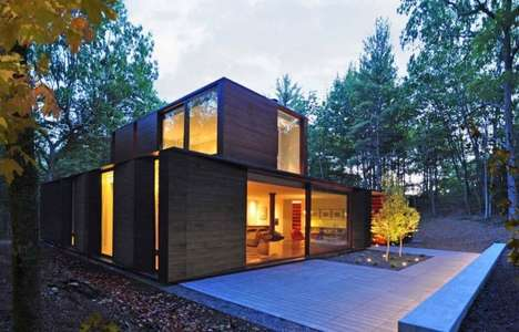 Stacked Rectilinear Residences - Johnsen Schmaling Architects' Door County Home Embodies Minimalism