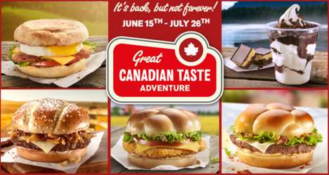 Canadiana-Inspired Menus - McDonald's Great Canadian Taste Adventure Celebrates Canada Day