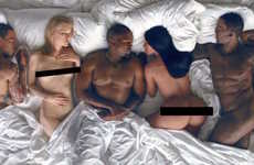 Controversial Music Videos - Kanye West's New Music Video Features Naked Images of Celebrities