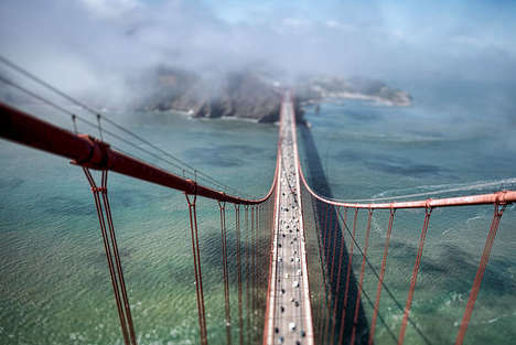 Height-Emphasizing Bridge Photography - These San Francisco Bridge Photos Show How High It Truly Is