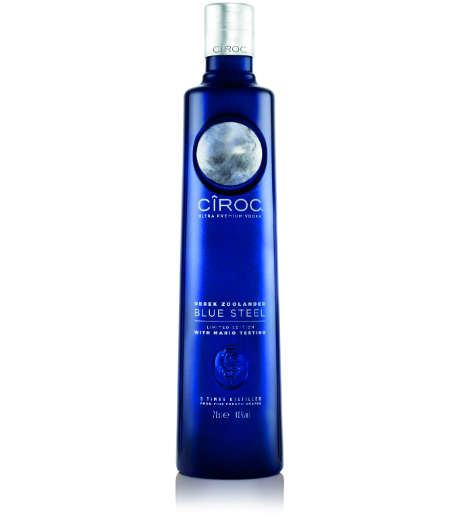 Cinematic Supermodel Vodkas - Cîroc Vodka Designs its Liquor Bottle Packaging After Derek Zoolander