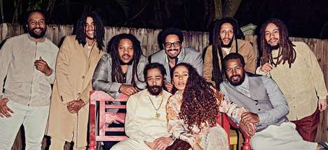Reggae Family Photography - The Marley Family Starred in GQ to Celebrate the Singer's Legacy