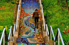 Reflective Tiled Steps
