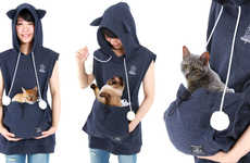 Cat-Carrying Hoodies - These Cat Hoodies Were Made to Comfortably Carry Pets in the Summer Months