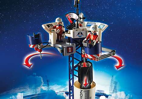 The Playmobil Space Rocket with Launch Site Toy is Built by Kids