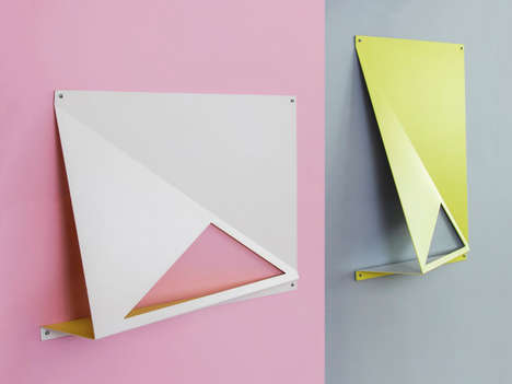 Geometric Magnetic Shelves - These Modern Metal Shelves Show the Possibilities Its Material Affords