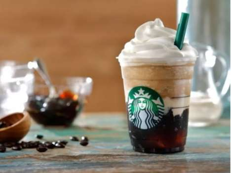 Coffee Jelly Blended Beverages - The Coffee Jelly Frappuccino is Made with Coffee-flavored Gelatin