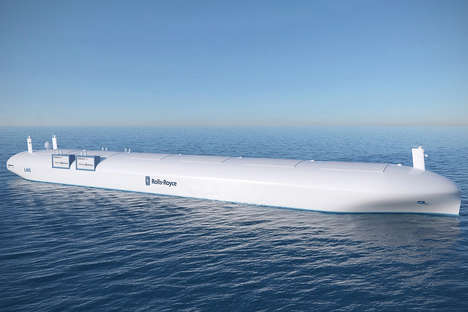 Autonomous Cargo Ships - Rolls-Royce Holdings is Imagining Crewless Cargo Ships for the Future