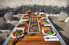 Integrated Barbecue Tables - The Angara Maximus Dining Table Features a Cook Grill at the Centre