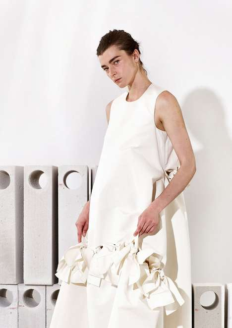 Sculptural Resort Collections - These Maison Rabih Kayrouz Garments Explore Geometry and Proportion