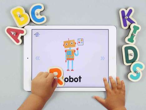 Smart Alphabet Toys - These Classic Wooden Letters Teach via iPad Apps
