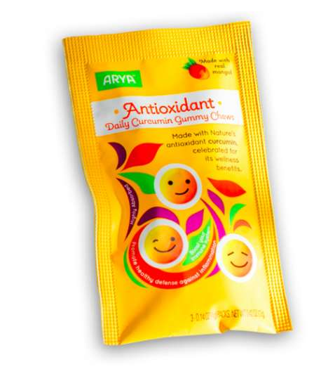 Healthy Antioxidant Gummies - ARYA's Daily Chewy Gummy Products are Enriched with a Curcumin Formula