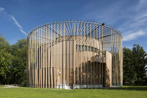 Modern Shakespearian Amphitheatres - Studio Andrew Todd's Circular Theatre is Built Out of Wood