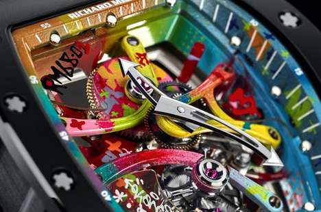 Graffiti-Inspired Timepieces - The RM 68-01 Tourbilion Cyril Kongo Boasts a Colorful Watch Design