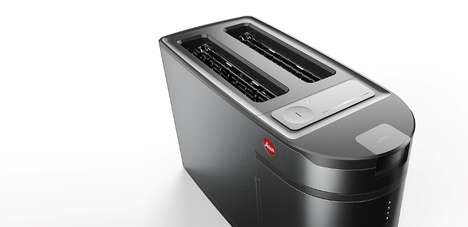 Camera-Inspired Toasters - The Leica Kitchen Toaster Takes Inspiration from the Shape of a DSLR