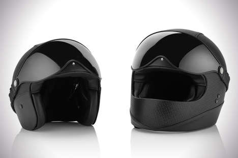 Retractable Luxe Helmets - Montblanc's Motorcycle Accessories Fuse Vintage Style with Modern Design
