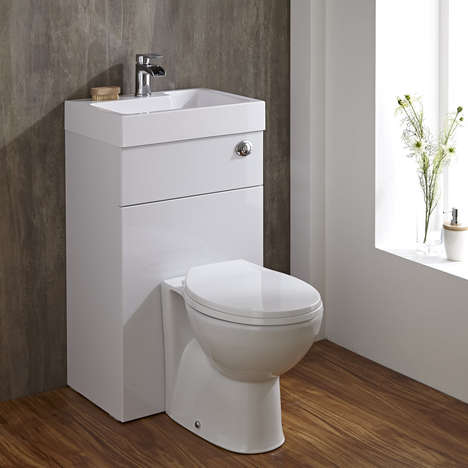 Combination Toilet-Basins - This Space-Saving Toilet and Basin is a Unique Hybrid