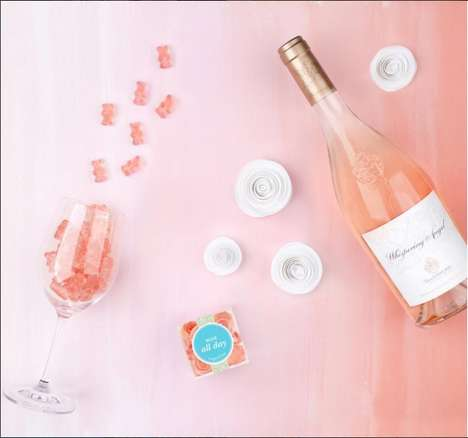 Rosé Wine Gummies - Sugarfina's Rosé All Day Rosé-Infused Gummy Bears are an Elegant Summer Treat
