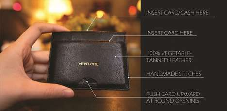 Slim Push-Open Wallets - The Design of this Minimalist Wallet Solves Issues Faced by Others