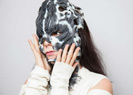 Printed Musculoskeletal Masks - Björk Created a 3D-Printed Mask Using Her Facial Structure