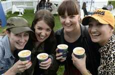 Selfie Coffee Cups - Lavazza Serves Special Coffee to People Waiting in Queue for Tickets