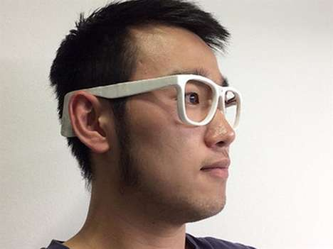 Weight Loss Eyeglasses - These 3D-Printed Glasses Monitor Use of the Chewing Muscles