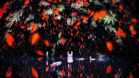 Digital Dome Installations - teamLab's Immersive Installation is Set in an Ethereal Enviroment
