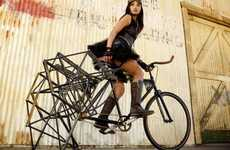 Slow-Moving Sculptural Bicycles - This Slow Bicycle Takes Inspiration from Theo Jansen's Strandbeest
