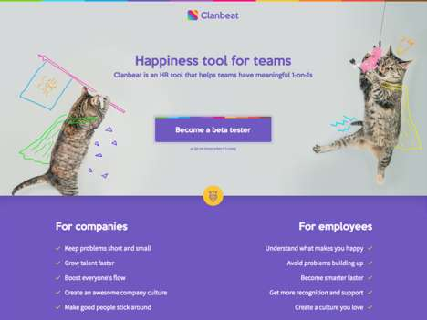 Daily Checkin Platforms - Clanbeat is a Happiness Tool for Teams That Records Peaks and Valleys