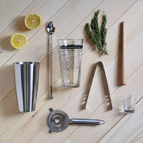 Portable Mixology Kits - West Elm's At-Home Barware Set Features Cocktail-Crafting Essentials
