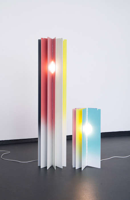 Artistic Adjustable Lamps - This Foldable Lamp Can be Adjusted to Change Colors