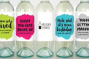 These Greeting Cards Can Be Used to Personalize Wine Bottles
