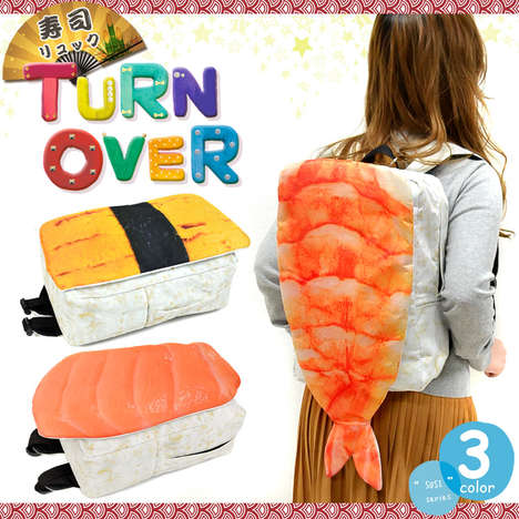 Stylish Sushi Knapsacks - These Sushi Backpacks Resemble the Iconic Seafood Dish