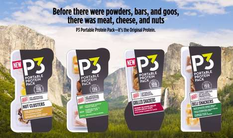 Pocket-Sized Protein Snacks - Oscar Mayer's P3 Portable Protein Packs are a Healthy Energy Source