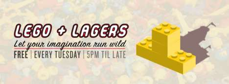 Building Block Beer Parties - The 'LEGO + Lagers' Event Encourages Adults to Be Creative