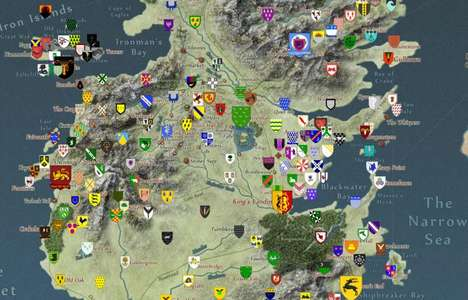 Interactive Fantasy Maps - The Quartermaester Offers a Responsive Cartogram of Essos and Westeros