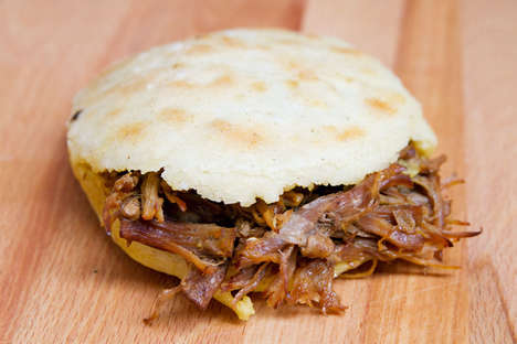 Stuffed Venezuelan Sandwiches - These Venezuelan Arepas Are Offered In a Gas Station Deli Near Miami