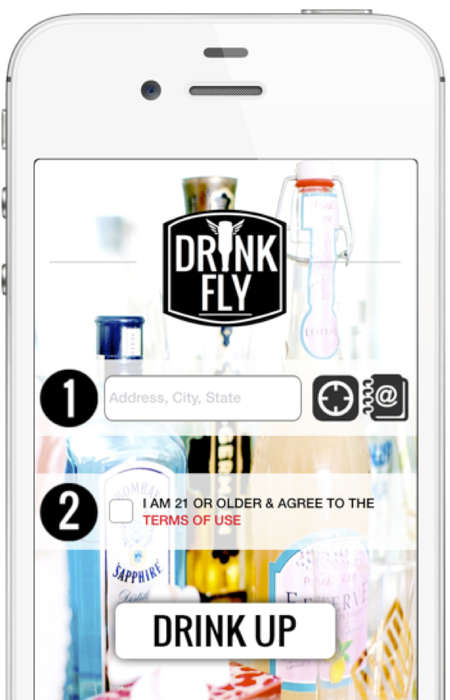 On-Demand Alcohol Services - 'Drinkfly' Lets Users Easily Order Their Usual Drinks of Choice