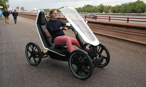 Bicycle-Car Hybrids - This Vehicle Could Resolve Transport Issues That Stem from Overpopulation