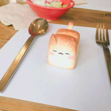 Cat-Shaped Bread Loaves - Rato Kim is a Korean Toy Artist Who Makes 'Cat Bread'