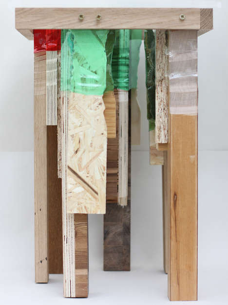 Bottle-Fused Furniture - Micaella Pedros Uses Recycled Plastic Connectors to Build Wood Furniture
